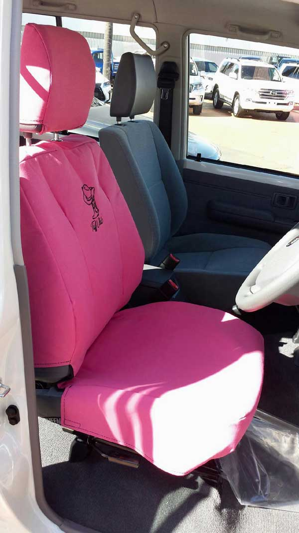 Tuffnuts canvas seat cover for toyota landcruiser