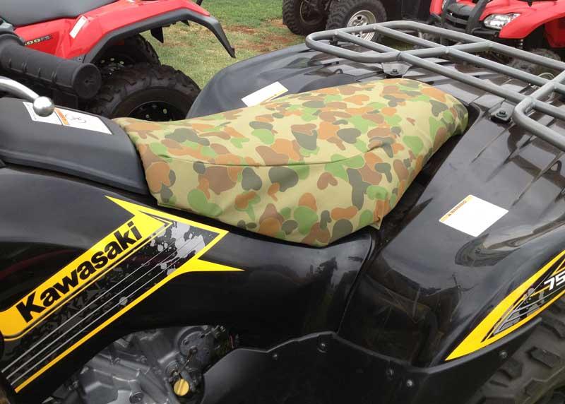 Tuffnuts canvas seat cove for kawasaki quad bike